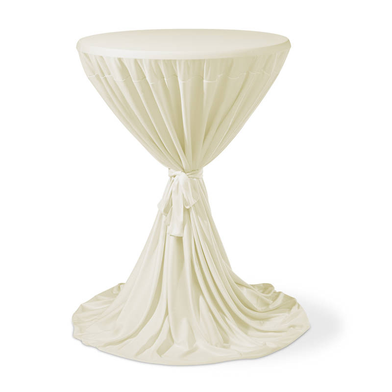 Housse Table Mange Debout Cover Ivory Boels Party Events