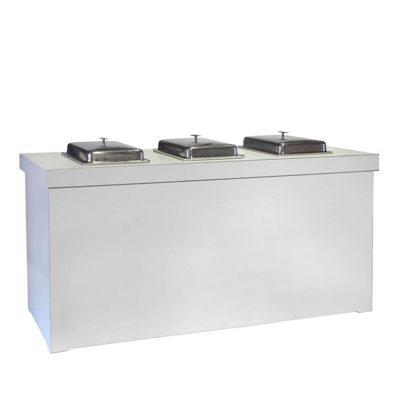 buffettisch basic white mit w rmeplatten boels party events. Black Bedroom Furniture Sets. Home Design Ideas